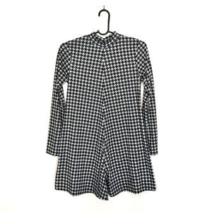 Houndstooth Print Shorts Jumpsuit 6